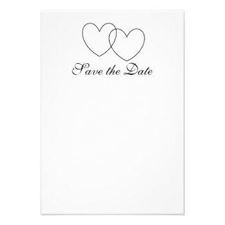 Interlocking Hearts Save-the-Date Cards Invite