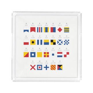 International Code of Signals Alphabet Acrylic Tray