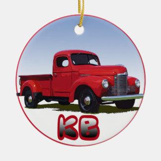 International KB Pickup Truck Ornament
