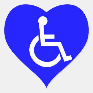 International symbol of access heart sticker