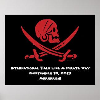 International Talk Like A Pirate Day Poster 2013