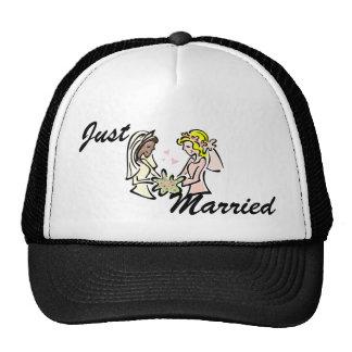 Interracial Lesbian Brides Trucker Hat