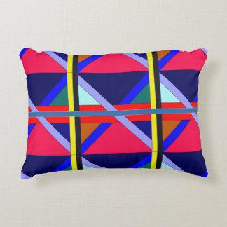 Intersecting Lines of Color Decorative Pillow