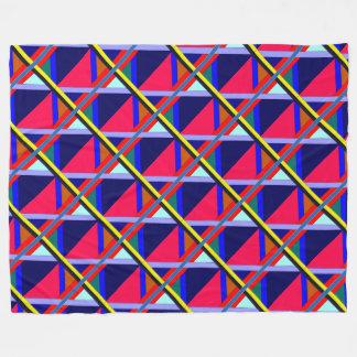 Intersecting Lines of Color Fleece Blanket