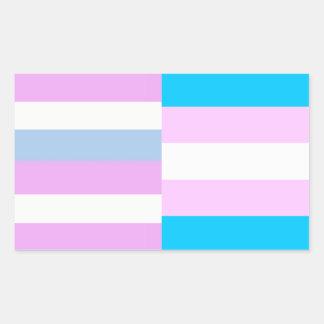 Intersex trans pride flags sticker