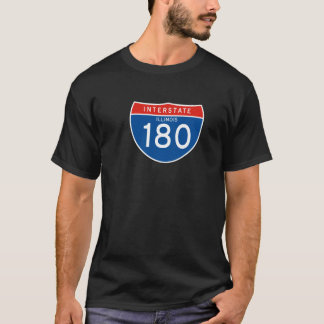 Interstate Sign 180 - Illinois T-Shirt
