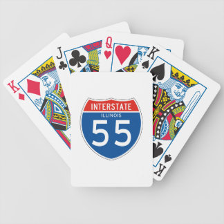 Interstate Sign 55 – Illinois Bicycle Playing Cards