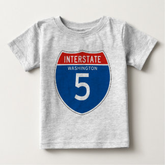 Interstate Sign the 5 - Washingtons Baby T-Shirt