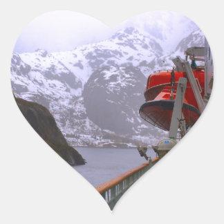 Intrepid explorer, Norwegian voyage Heart Sticker