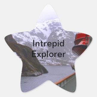 Intrepid explorer, Norwegian voyage Star Sticker