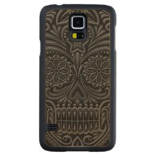 Intricate Dark Sugar Skull Maple Galaxy S5 Case