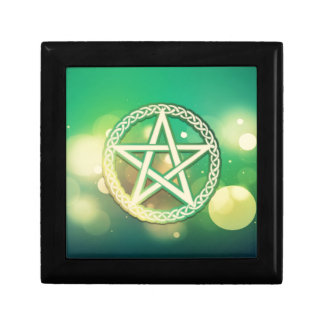 Intricate green pentacle gift box