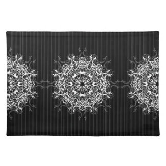 Intricate Ornament Pinstripe Placemats