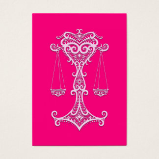 Intricate Pink Libra Zodiac Business Card