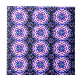 intricate tibetan mandala circles small square tile
