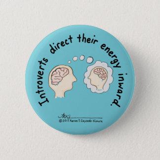 Introvert Basics: Energy Inward Blue Button
