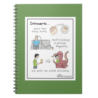 Introvert Basics Green Notebook