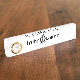 Introvert Desk Nameplate