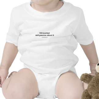 introverted and passive about it baby bodysuits