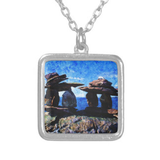 Inukshuk Silver Plated Necklace