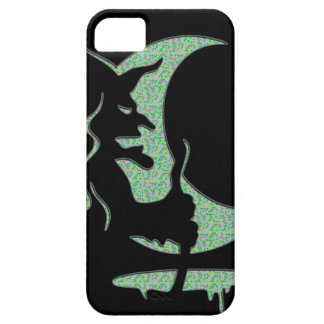 "Inversion Art ""Evil witch"" - black / green dots Barely There iPhone 5 Case"