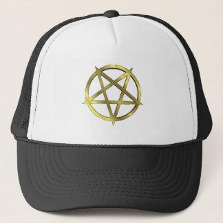 Inverted Gold Pentagram Trucker Hat