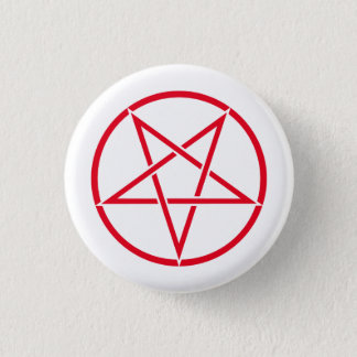 Inverted pentagram (pentagram color customizable) 3 cm round badge