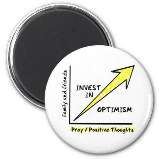 INVEST IN OPTIMISM FRIDGE MAGNETS