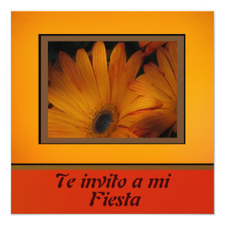 Invitación - Fiesta - Orange Daisy Personalized Announcement