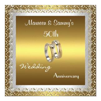Invitation 50th Anniversary Wedding Gold Elegant