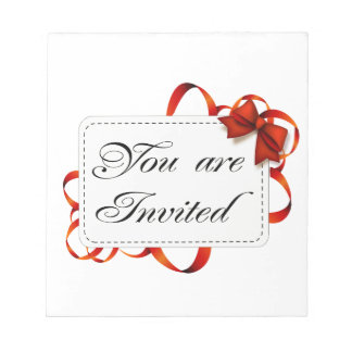 Invitation card >> You Are Invited Notepad
