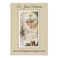 Priest ordination anniversary gifts on zazzle nz invitation catholic priest ordination anniversary stopboris Images