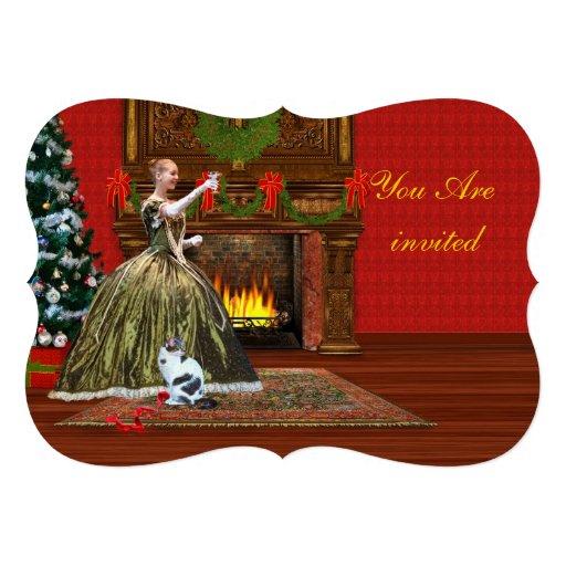 Invitation, Christmas Party, Vintage Holiday Toast