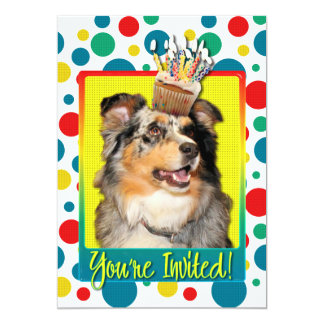 Invitation Cupcake - Australian Shepherd - Dustine