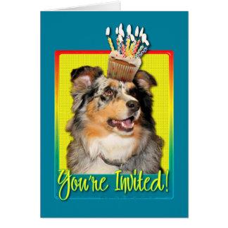 Invitation Cupcake - Australian Shepherd - Dustine