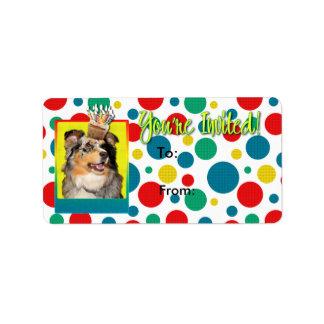 Invitation Cupcake - Australian Shepherd - Dustine Address Label