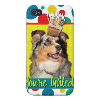 Invitation Cupcake - Australian Shepherd - Dustine iPhone 4/4S Covers