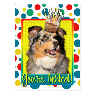Invitation Cupcake - Australian Shepherd - Dustine Postcard