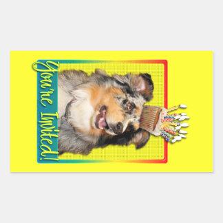 Invitation Cupcake - Australian Shepherd - Dustine Rectangular Sticker
