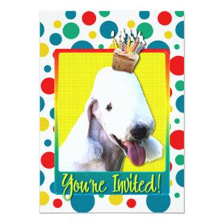Invitation Cupcake - Bedlington Terrier