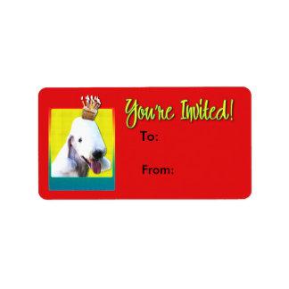 Invitation Cupcake - Bedlington Terrier Label