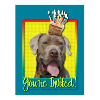 Invitation Cupcake - Mastiff - Snoop Postcard