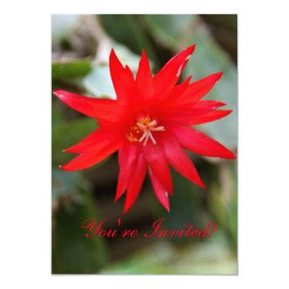 Invitation - Easter Cactus