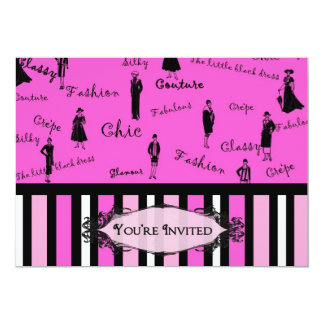 Invitation -  Feminine - Fun - Chic Custom Invitation