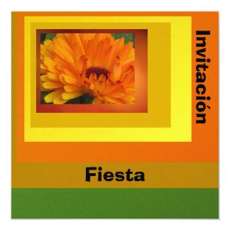 Invitation - Fiesta - Orange Daisy