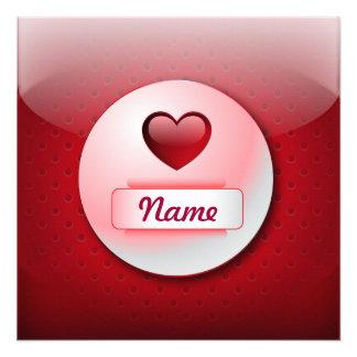 Invitation icon heart love
