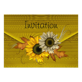 Invitation Lemon Envelope Yellow SunFlower Announcement