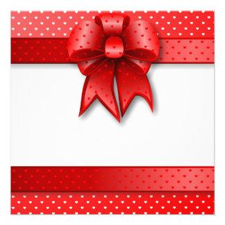 Invitation Love Red Bow