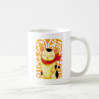 Invitation luck cat coffee mug