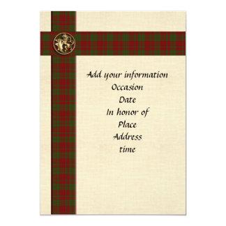 Invitation template Masculine Scottish plaid